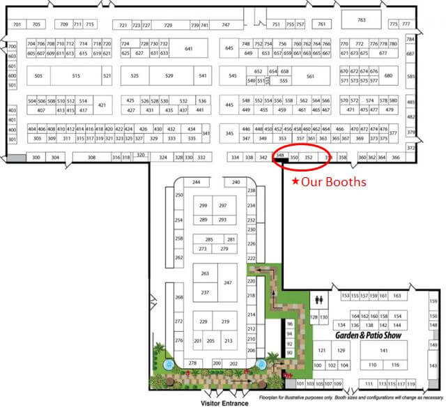 ideal home show Case Design/Remodeling booth location