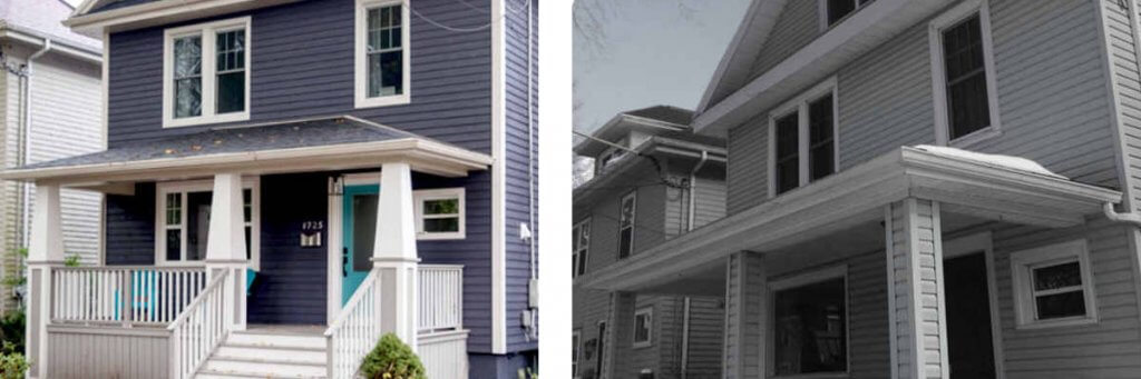 before after old home remodel