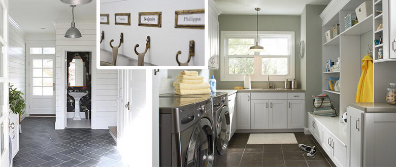 laundry and powder room