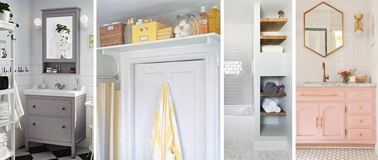 small bath storage ideas drawers shelves mirrors